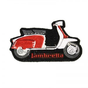 LAMBRETTA SHAPED DOORMAT - RED