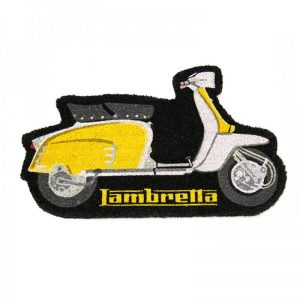 LAMBRETTA SHAPED DOORMAT - YELLOW